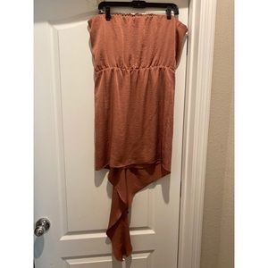 Express Copper Asymmetrical dress
